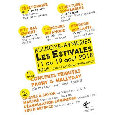 Affiche Estivales - châteaux gonflables